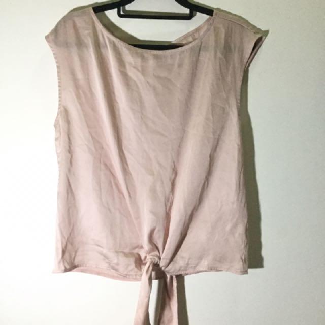 Soft Pink satin top