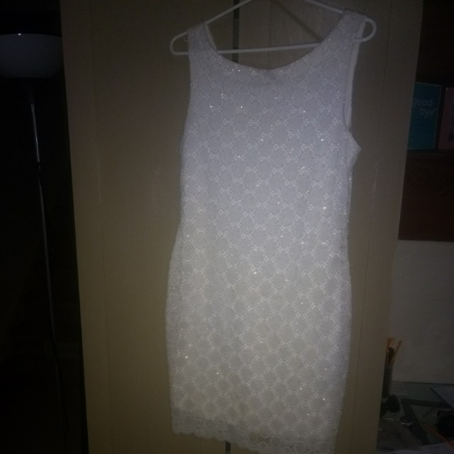 Sparkly white dress medium size 8