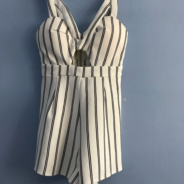 Stripey playsuit size 8