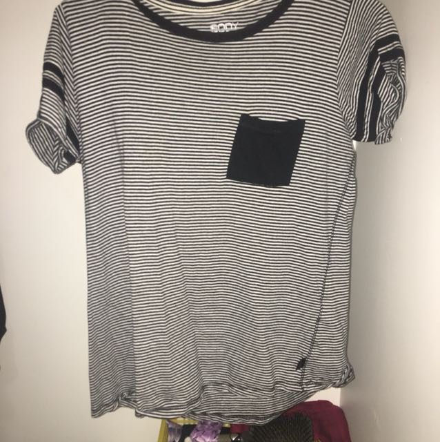 Stripy black and white tshirt
