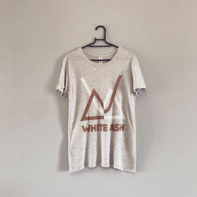 日本淺灰麻花純棉T恤