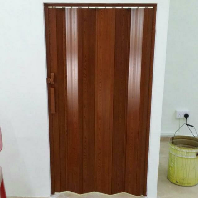 Toilet PVC Multi Folding Door, Furniture, Home Decor on Carousell