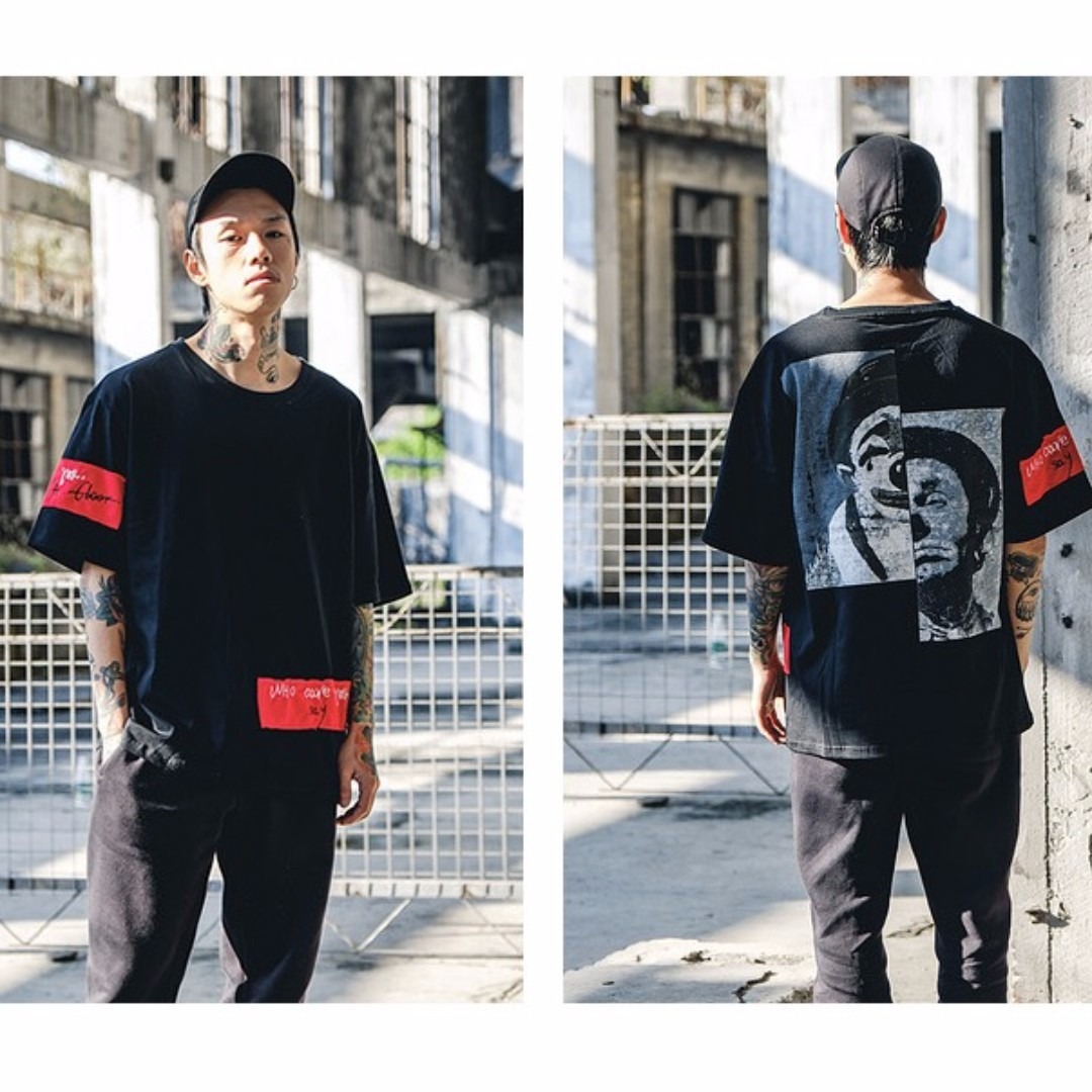 82e16a6a Tokyo Oversize streetwear Tees (CLOWN), Men's Fashion, Clothes on Carousell