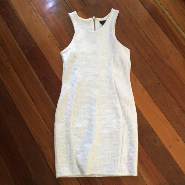 Top Shop White Bodycon Dress