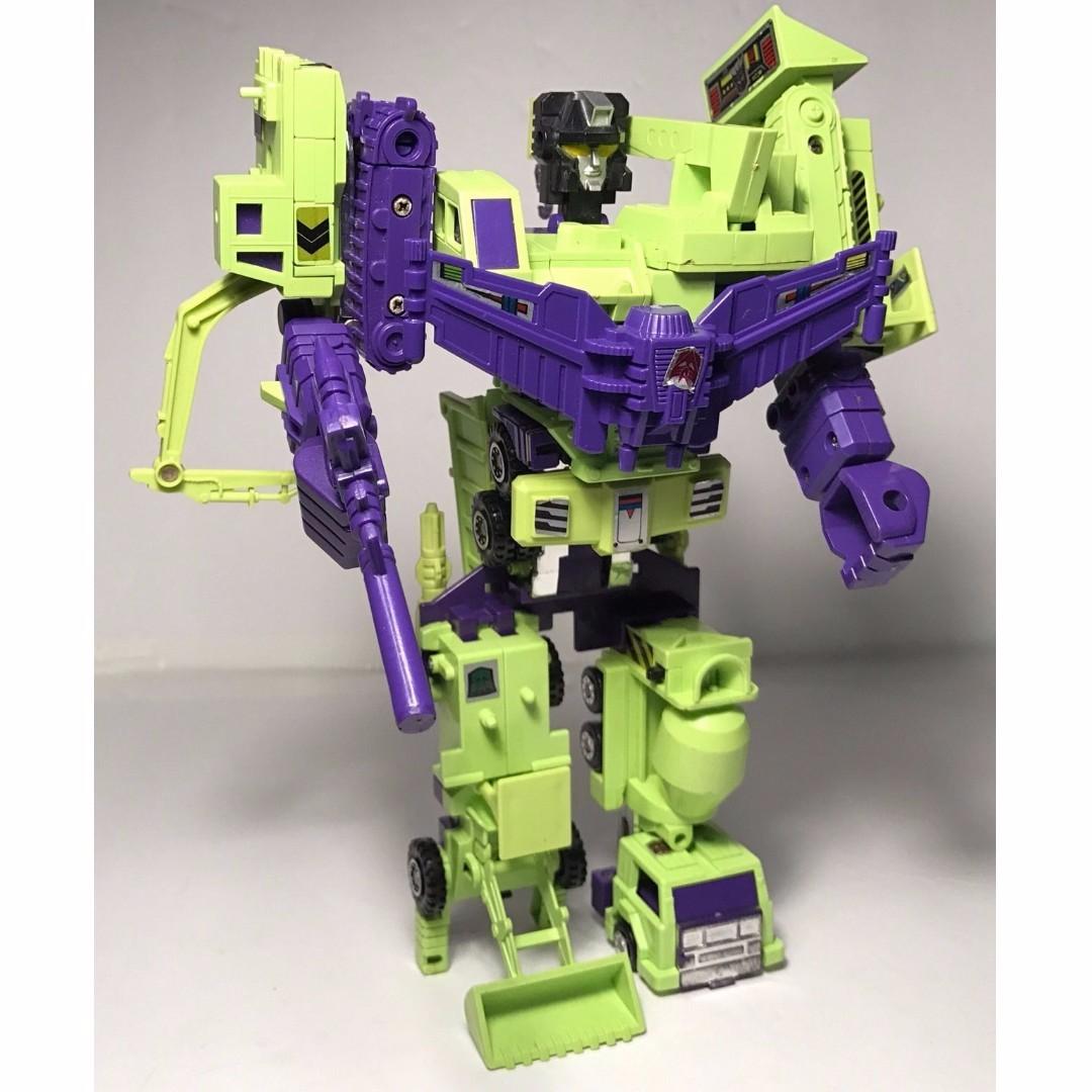 Transformers G1 Constructicons Devastator vintage complete