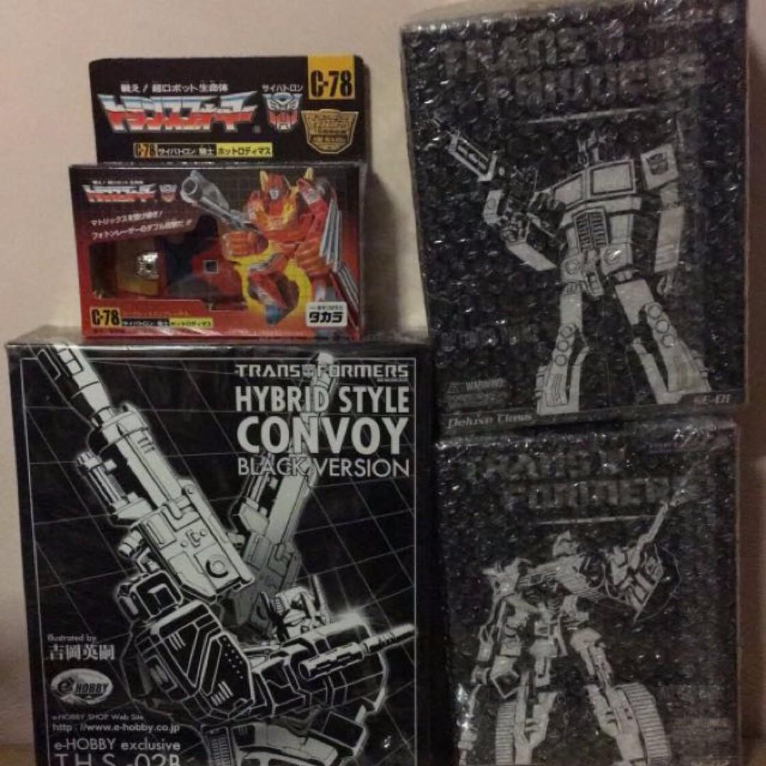 Transformers Optimus Prime THS black Megatron Special Edition Hot Rod takara