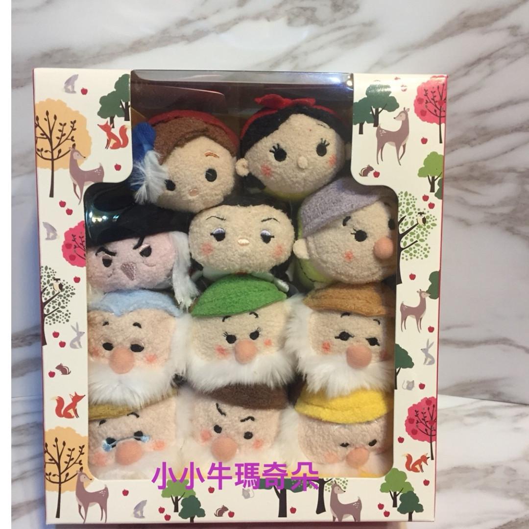 ~小小牛瑪奇朵~日本東京迪士尼TSUM TSUM白雪公主系列禮盒組(七矮人.巫婆.皇后.王子)