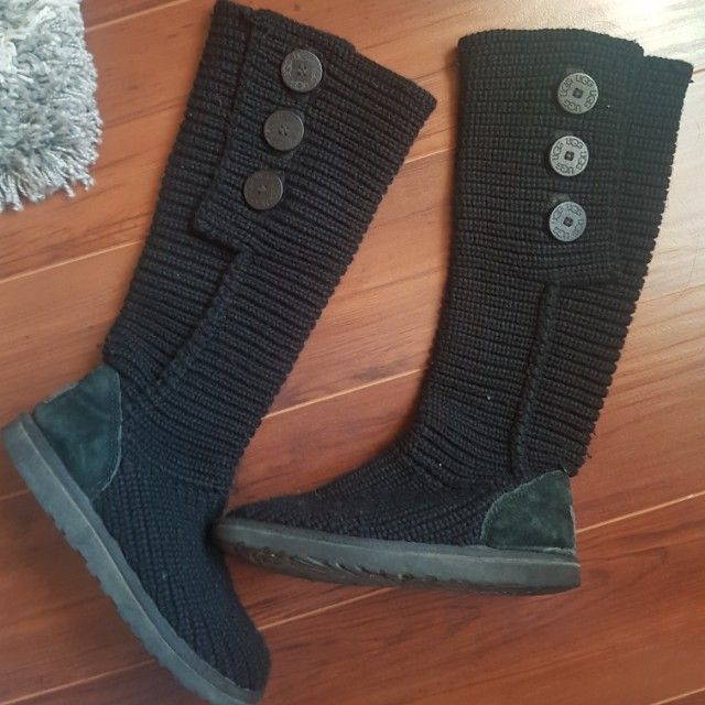UGG knit outdoor boots