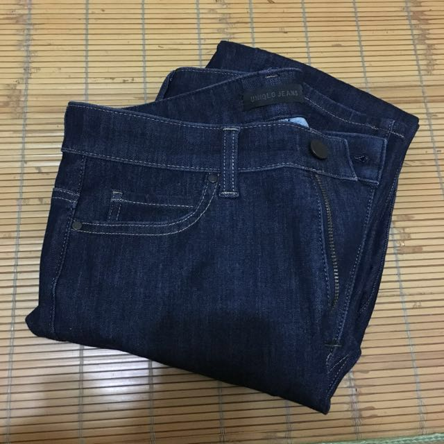 UNIQLO 特級彈性高腰九分牛仔褲-藍色26 #限時免運費