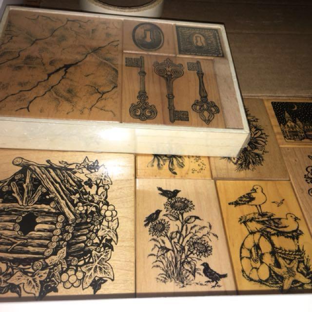 貝登堡/牧莎/USA絕版木質手作印章