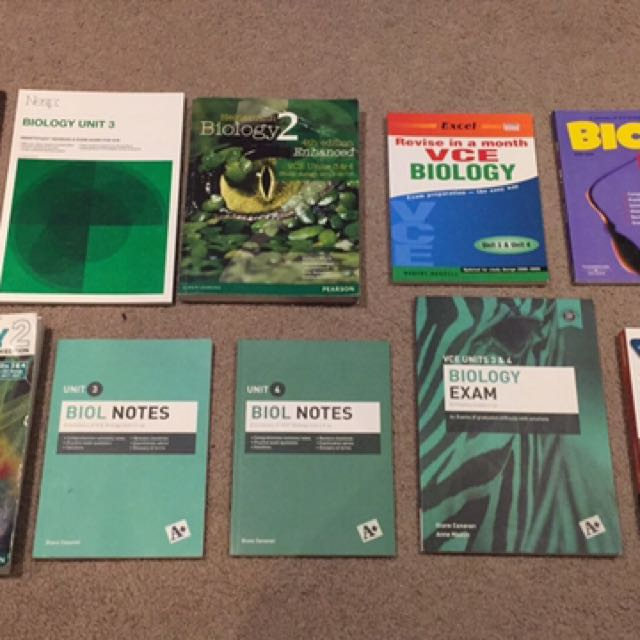 VCE Biology units 3/4 resources - textbook, A+ notes, exams, sacs, checkpoints and more
