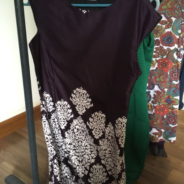Violet dress with floral deaign