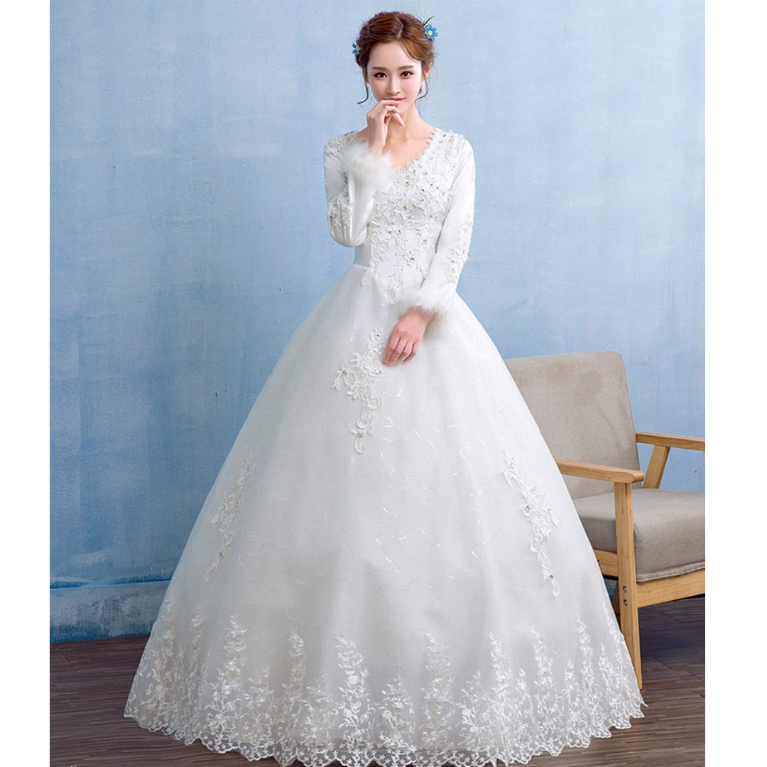 Pretty Long Sleeved Wedding Dresses Pictures Inspiration - Wedding ...