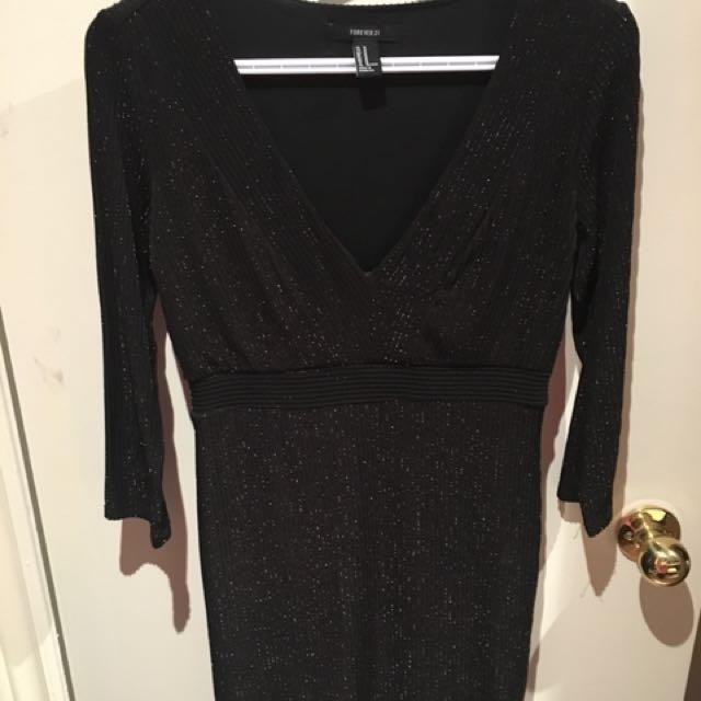 Womens H&M Glitter Holiday Dress