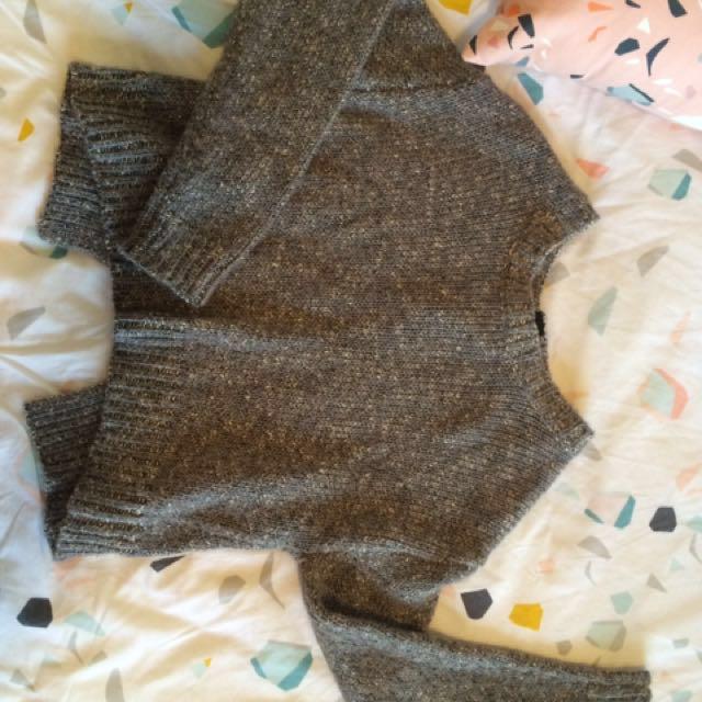 Wool knit grey jumper witchery