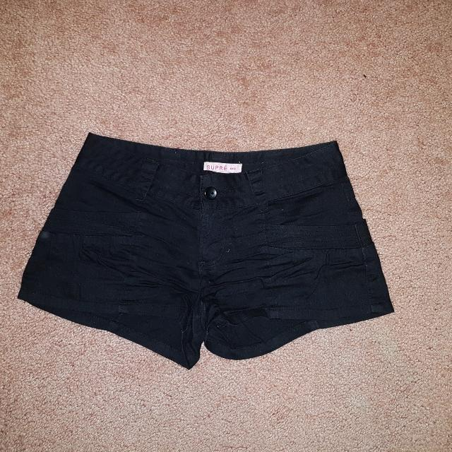 Xxs Supre Black Shorts