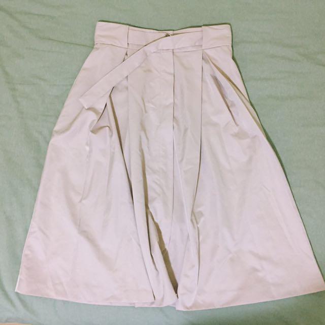Zara belted midi skirt