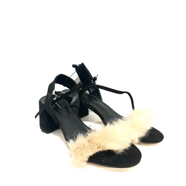 Zara furry shoes
