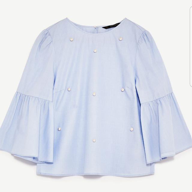 ZARA TOP WITH PEARL BUTTONS SALE