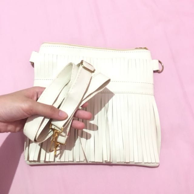 ZLR Broken White Sling Clutch Mini Bag