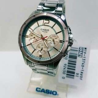 3-dial Casio Watch MTP 1374D