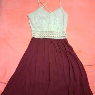ℹ🔻Burgundy Lace Dress