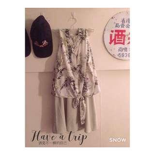 🚚 兩件式雪紡氣質洋裝