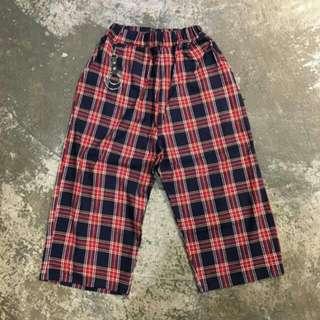 格紋褲×1(藍×紅)照片一