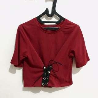 Maroon tied tshirt