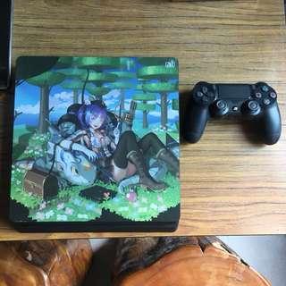 PS4 slim 日版主機盒裝,含四款遊戲光碟
