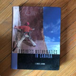 Business Mathematics in Canada Hardcover Textbook