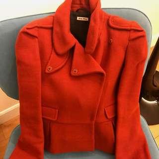 Miu Miu Wool jacket very new size 38