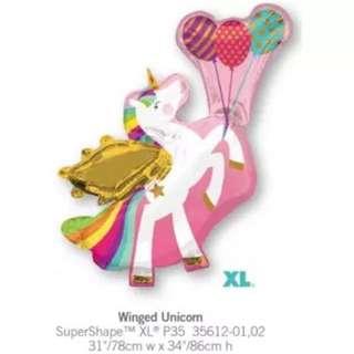 Anagram flying unicorn balloon