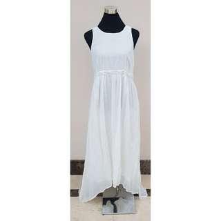 Mango White Long Dress