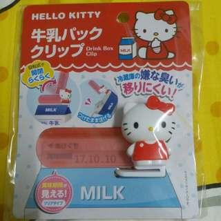 Hello kitty保存鮮奶夾