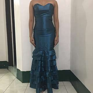 formal gown blue tube