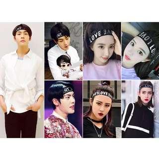 Korean sports headband tide men and women headdress fitness headband