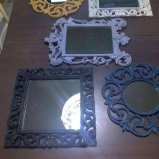 Set of 5 vintage mirrors