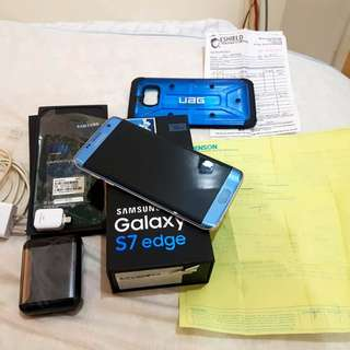 Samsung s7 edge limited edition coral blue local BRAND