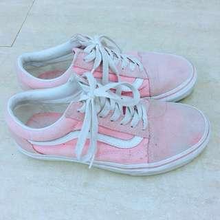 🚚 降價!Vans 粉紅麂皮滑板鞋 23號