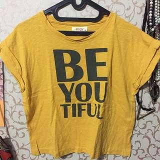 yellow tshirt