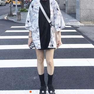 🚚 現貨🔥🔥白鶴印花圖騰和服外套