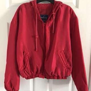 Red Vintage Bomber Jacket