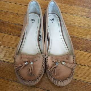 Beige/brown h&m loafers