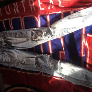 Fashion nova high waisted ripped denim size 29