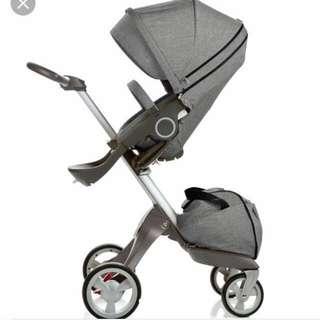 出租 挪威品牌#Stokke XPLORY V4 #嬰兒車   #雙向推車 高度可當#嬰兒餐椅