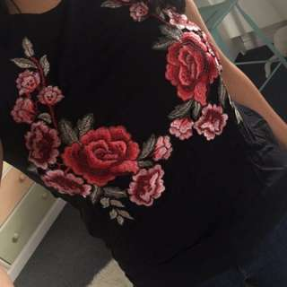Embroided top from mirrou, medium