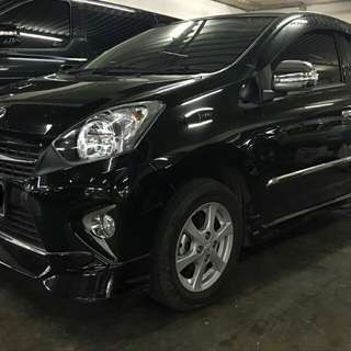 Toyota AGYA TRD Sportivo 1.0 at 2017 hitam antik