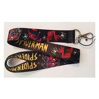 The Amazing Spiderman Lanyard Keychain Set (Black)