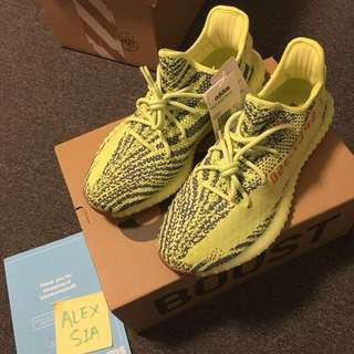 Adidas Yeezy Boost 350 Semi Frozen Yellow US 10 DS